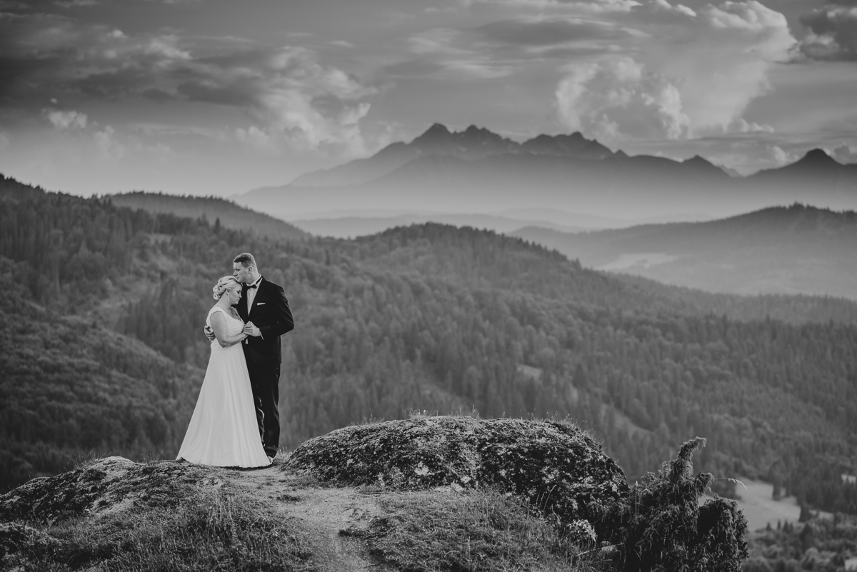 fotografia ślubna w górach zakopane nowy targ